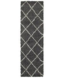 "Oriental Weavers Henderson Shag 090 2'3"" x 7'6"" Runner Area Rug"