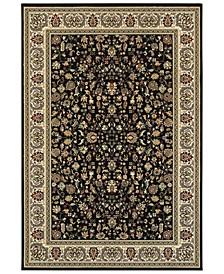 "Kashan 108B Black/Ivory 7'10"" x 10'10"" Area Rug"