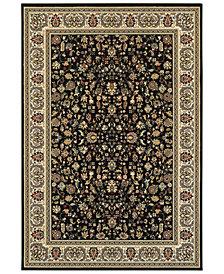 "Oriental Weavers Kashan 108B Black/Ivory 5'3"" x 7'6"" Area Rug"