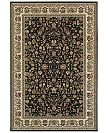 "Oriental Weavers Kashan 108B Black/Ivory 9'10"" x 12'10"" Area Rug"