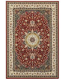 """Oriental Weavers Kashan 119N Red/Ivory 3'10"""" x 5'5"""" Area Rug"""