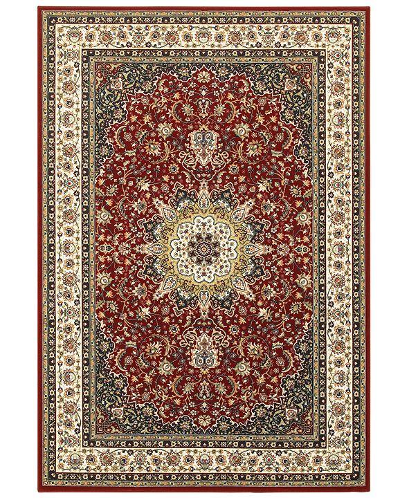 """Oriental Weavers Kashan 119N Red/Ivory 1'10"""" x 3' Area Rug"""