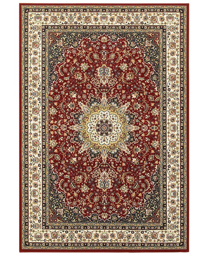 """Oriental Weavers - Kashan 119N Red/Ivory 7'10"""" x 10'10"""" Area Rug"""