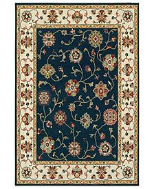 """Oriental Weavers Kashan 2336B Navy/Ivory 6'7"""" x 9'6"""" Area Rug"""