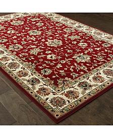 """Oriental Weavers Kashan 4929R Red/Ivory 1'10"""" x 3' Area Rug"""