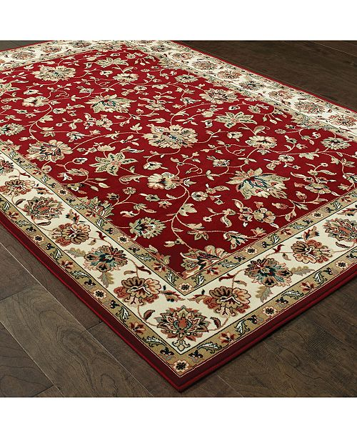 "Oriental Weavers Kashan 4929R Red/Ivory 7'10"" x 10'10"" Area Rug"