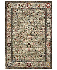 """Mantra 1905W Ivory/Multi 2'3"""" x 7'6"""" Runner Area Rug"""