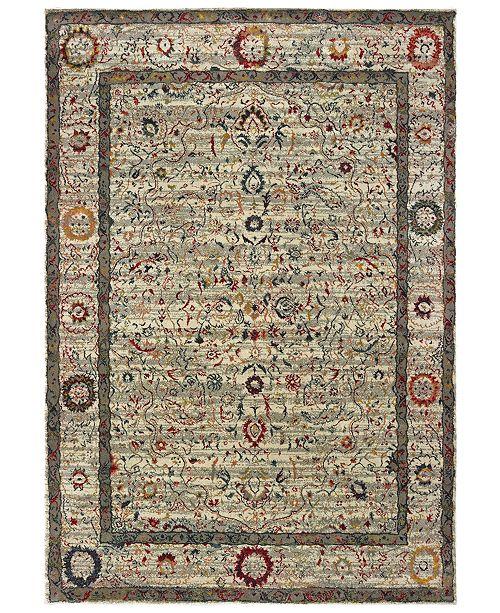 "Oriental Weavers Mantra 1905W Ivory/Multi 2'3"" x 7'6"" Runner Area Rug"