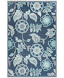 "Riviera 7630 Floral Vine 7'10"" x 9'10"" Indoor/Outdoor Area Rug"