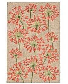 """Liora Manne' Ravella 2273 Desert Lily Orange 3'6"""" x 5'6"""" Indoor/Outdoor Area Rug"""