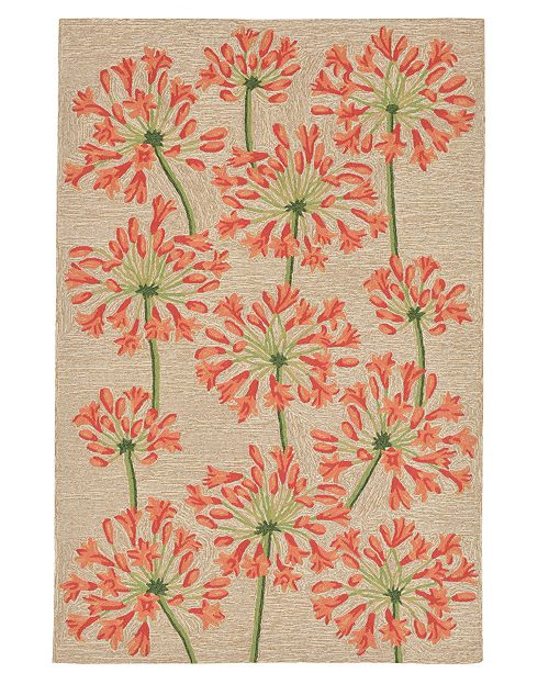 Liora Manne' Ravella 2273 Desert Lily Orange 2' x 8' Indoor/Outdoor Runner Area Rug