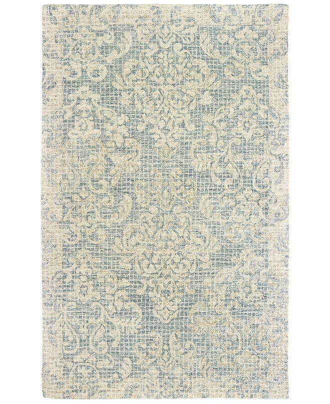 Oriental Weavers Tallavera 55604 Blue/Ivory 8' x 10' Area Rug