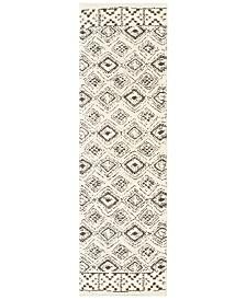 "Oriental Weavers Verona Shag 1330W Ivory/Brown 2'3"" x 7'6"" Runner Area Rug"