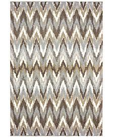 Verona Shag 4D Gray/Taupe 2' x 3' Area Rug