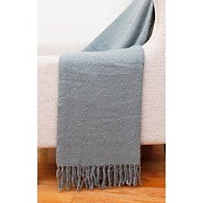 "Bryan Mohair Fringe Decorative Throw, 50"" x 60"""