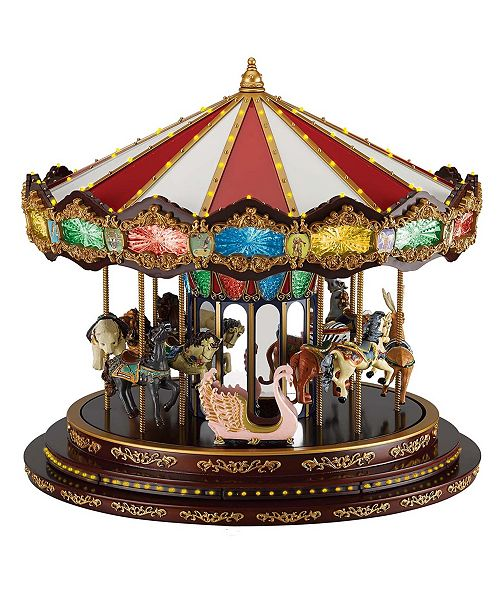 eeeadd061ac Mr. Christmas Marquee Deluxe Carousel Animated LED Musical ...