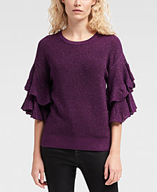 DKNY Ruffle-Sleeve Sweater, Created for Macy's