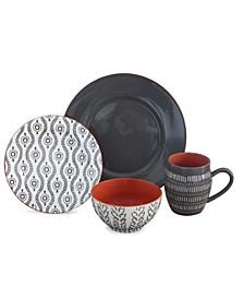 Tangiers 16 Piece Dinnerware Set