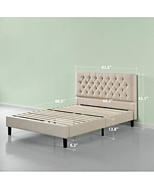 Zinus Upholstered Modern Classic Tufted Platform Bed Frame- No Box Spring Needed, Queen