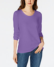 Maison Jules Scoop-Neck Top, Created for Macy's