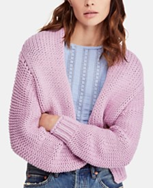 Free People Glow For It Open-Front Cardigan
