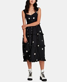 Free People Daisy Chain Cotton Midi Dress