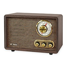 Retro Wood Bluetooth FM/AM Radio with Rotary Dial