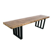 Kantor Outdoor Dining Bench, Quick Ship