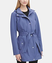 b2913c05b2 DKNY Hooded Belted Raincoat