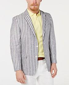 Men's Modern-Fit Stripe Linen Sport Coat