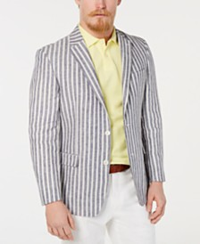 Tommy Hilfiger Men's Modern-Fit Stripe Linen Sport Coat