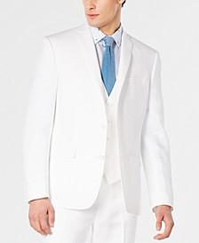 Men's Slim-Fit White Suit Jacket, Created for Macy's