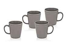 Godinger Chaddsford  Set/4 Grey Mugs