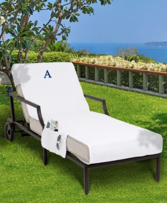 Personalized Standard Size 100% Turkish Cotton Chaise Lounge Cover with Side Pockets