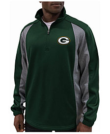 G-III Sports Men's Green Bay Packers Offsetting Penalty Quarter-Zip Pullover