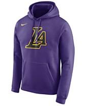 Nike Men s Los Angeles Lakers City Club Fleece Hoodie decb02e5a