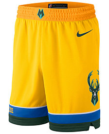 Nike Men's Milwaukee Bucks City Swingman Shorts