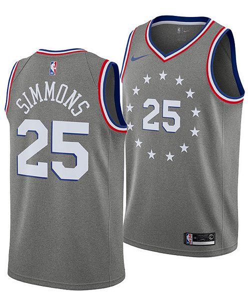 0ab1d802a44 ... Nike Ben Simmons Philadelphia 76ers City Edition Swingman Jersey 2018
