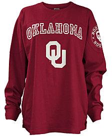 Pressbox Women's Oklahoma Sooners Long Sleeve Boyfriend T-Shirt