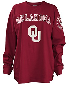 Pressbox Women's Oklahoma Sooners Long Sleeve Boyfriend T-Shirt