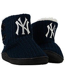 Forever Collectibles Women's New York Yankees Knit Two Button Boots