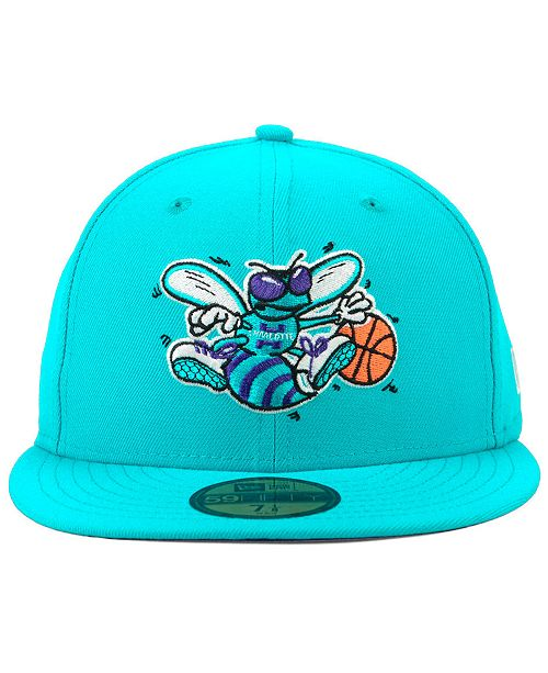 low priced fcad7 48adb ... italy new era charlotte hornets hardwood classic nights 59fifty fitted  cap sports fan shop by lids