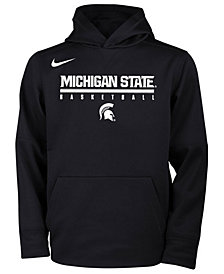 Nike Michigan State Spartans Therma Hooded Sweatshirt, Big Boys (8-20)