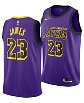dbc8f379ea41 Nike Men s LeBron James Los Angeles Lakers City Swingman Jersey 2018