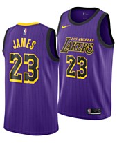 72fb8ff12 Nike Men s LeBron James Los Angeles Lakers City Swingman Jersey 2018