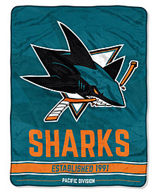 Northwest Company San Jose Sharks Micro Raschel Break Away Blanket