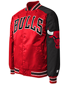 G-III Sports Men's Chicago Bulls Starter Dugout Playoffs Satin Jacket