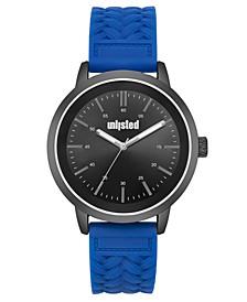 Men's Blue Silicone Sport Watch, 44MM
