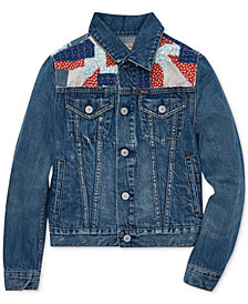 Polo Ralph Lauren Big Girls Patchwork Denim Trucker Jacket