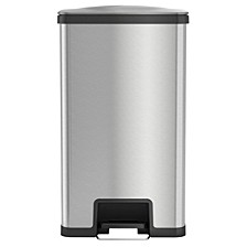 AirStep 18 Gallon Step Trash Can with Deodorizer, Stainless Steel